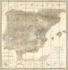 Spain and Portugal Map By Catastro Real de Francia
