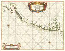 Guianas & Suriname Map By Arent Roggeveen / Jacobus Robijn
