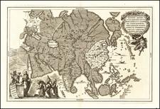 Asia Map By Heinrich Scherer