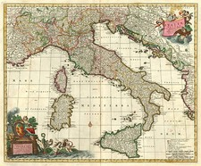 Europe and Italy Map By Nicolaes Visscher I