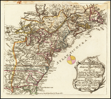 United States Map By Christian Friedrich von der Heiden