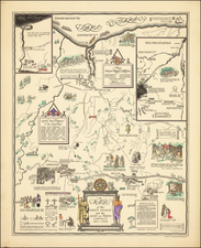 New York State Map By Helen M. Erickson / Alexander McGinn Stewart
