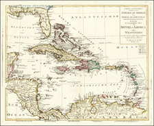 Florida and Caribbean Map By Johann Walch