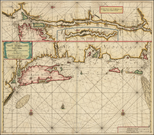 New England, Connecticut, Massachusetts, Rhode Island, New York City and New York State Map By Johannes Van Keulen