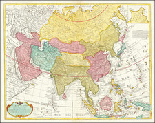 Asia Map By Johannes Covens / Pieter Mortier