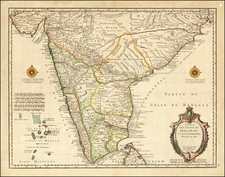 India Map By Guillaume De L'Isle