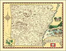 Arkansas and Pictorial Maps Map By Karl Smith