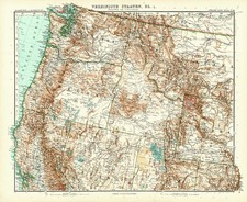 Pacific Northwest Map By Adolf Stieler