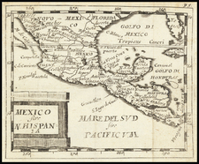 Mexico sive N. Hispania By Pierre Du Val