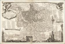 Rome Map By Giovanni Battista Nolli  &  Giovanni Battista Piranesi