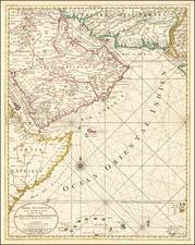 Arabian Peninsula and Persia Map By Pieter Mortier