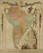 South America Map By Juan de la Cruz Cano y Olmedilla