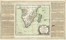 Africa and South Africa Map By Louis Brion de la Tour