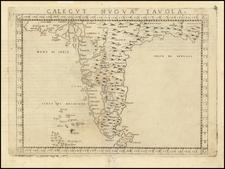 (India) . Calecut Nuova Tavola By Girolamo Ruscelli