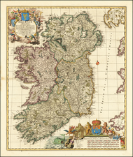 Ireland Map By Nicolaes Visscher I
