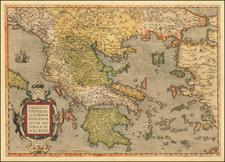 Graeciae Universae Secundum Hodiernum Situm Neoterica Descriptio By Abraham Ortelius