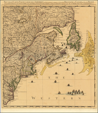 New England, Mid-Atlantic and Canada Map By Johannes Covens  &  Cornelis Mortier