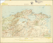 North Africa and World War II Map By Service Geographique de l'Armee