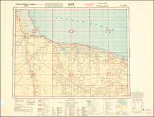 North Africa and World War II Map By General Staff of the German Army