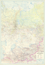 Russia in Asia and World War II Map By General Staff of the German Army