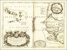 West Africa and African Islands, including Madagascar Map By Vincenzo Maria Coronelli