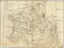France Map By Claudius Ptolemy