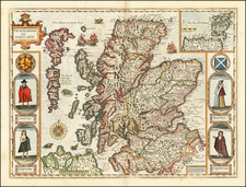 Scotland Map By John Speed