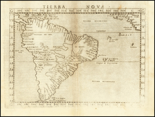 South America Map By Girolamo Ruscelli