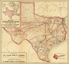 Texas Map By Poole Brothers