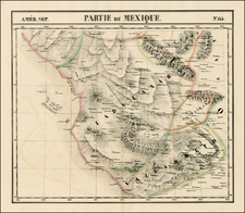 Mexico Map By Philippe Marie Vandermaelen