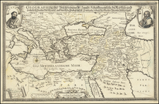 Mediterranean, Holy Land and Turkey & Asia Minor Map By Balthasar Christoph Wust