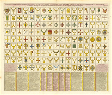 Curiosities Map By Henri Chatelain