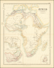 Africa Map By Archibald Fullarton & Co.  &  G.H. Swanston