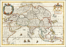 A Generall Mapp of Asia . . . 1669 By Richard Blome