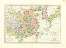 China, Japan and Korea Map By Samuel Dunn