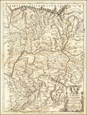 Spain Map By Giacomo Giovanni Rossi / Giacomo Cantelli da Vignola / Domenico Rossi
