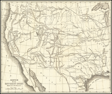 Southwest, Rocky Mountains, Pacific Northwest and California Map By R.B. Marcy