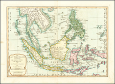 China, Southeast Asia, Philippines and Indonesia Map By Samuel Dunn