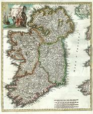 Europe and British Isles Map By Giambattista Albrizzi