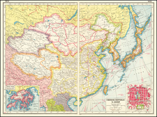 China and Hong Kong Map By Harmsworth