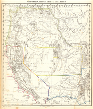 Southwest, Utah, New Mexico, Rocky Mountains, Utah, Pacific Northwest, Oregon and California Map By Carl Flemming