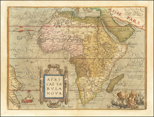 Africa Map By Abraham Ortelius