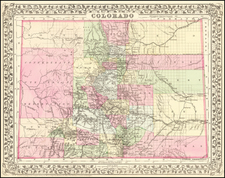 Plains, Southwest, Rocky Mountains and Colorado Map By Samuel Augustus Mitchell Jr.