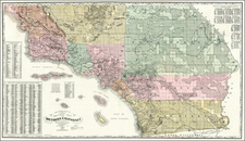 California and Los Angeles Map By Willson & Co.
