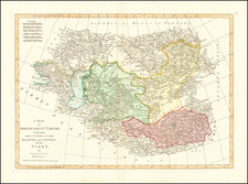 Russia, China, Central Asia & Caucasus and Russia in Asia Map By Samuel Dunn