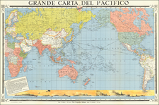 World, Pacific Ocean, Pacific and World War II Map By Ente Geografico Italiano