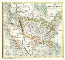 United States, Texas and North America Map By A.R. Fremin