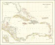 Florida, Caribbean and Central America Map By John Arrowsmith