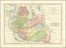 Central Asia & Caucasus, Middle East and Persia & Iraq Map By Samuel Dunn