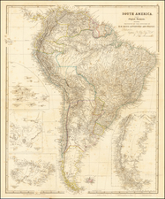 South America and Peru & Ecuador Map By John Arrowsmith